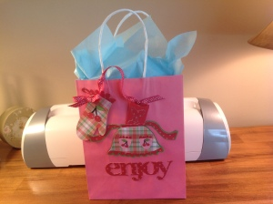 Gift Bag with card and receipt envelope.